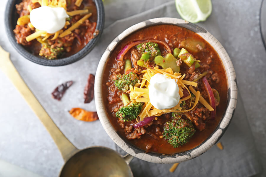 Low Carb Chili with a Kick