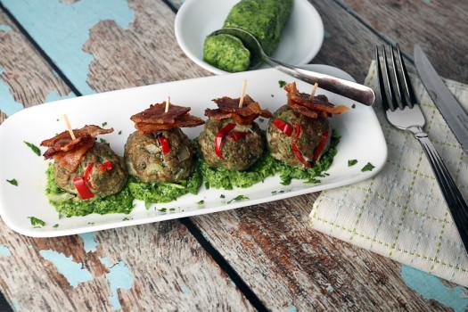 Turkey Meatballs with Pork Rinds