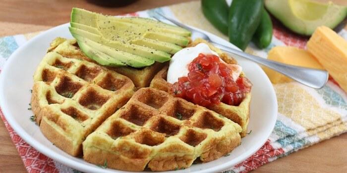 Jalapeno Cheddar Waffles