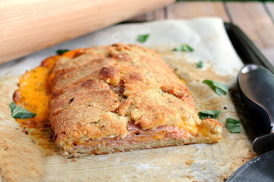 Ham and Cheese Keto Stromboli