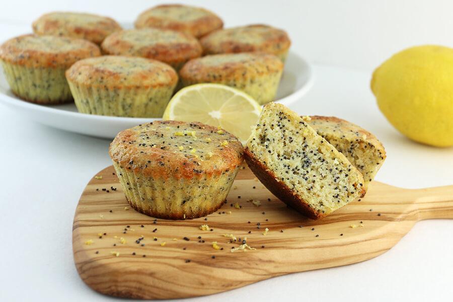Keto Lemon Poppyseed Muffins