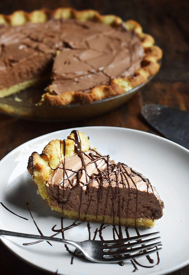 This pie is delicious! Keto chocolate silk pie is a great dessert for holidays.