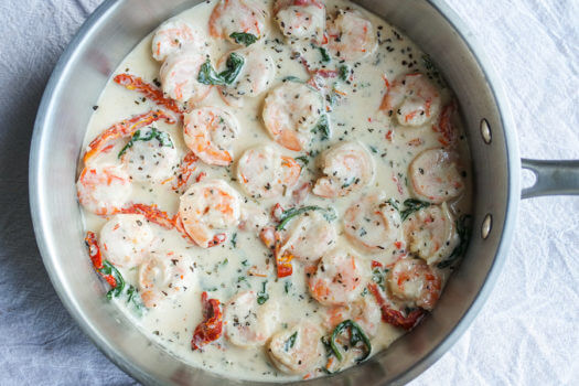 One Pot Shrimp Alfredo