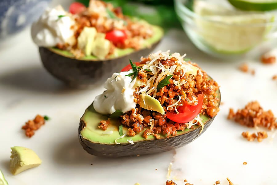 Vegetarian Taco Stuffed Avocados