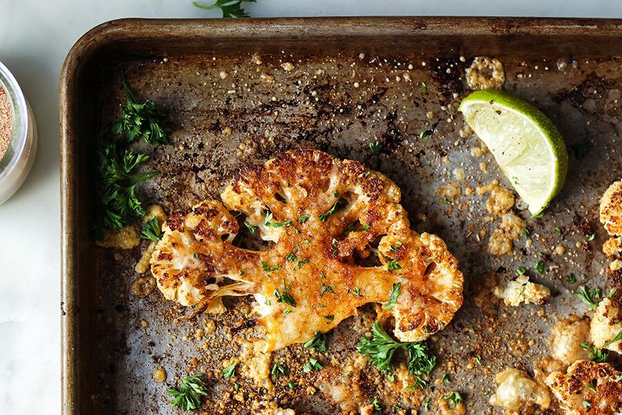 Roasted Cajun Cauliflower Steaks