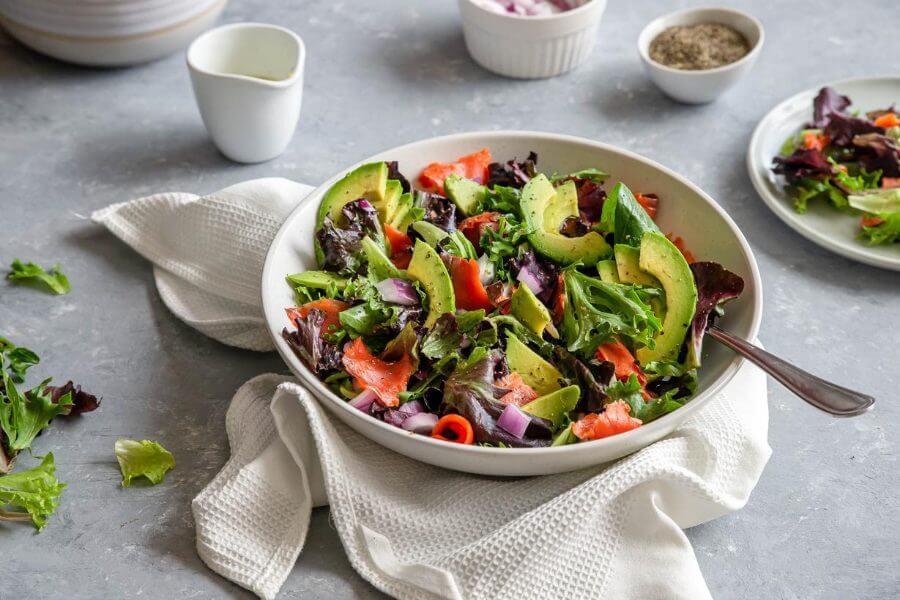 Keto Avocado and Salmon Salad