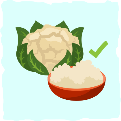 Risotto → Riced cauliflower