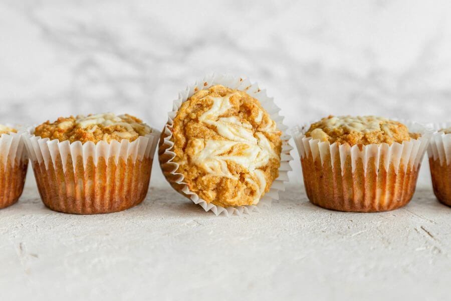 Keto Maple Cream Cheese Pumpkin Muffins