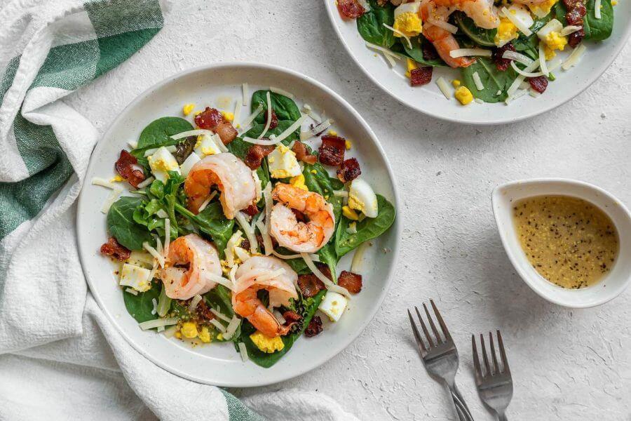 Shrimp Salad with Hot Bacon Dressing