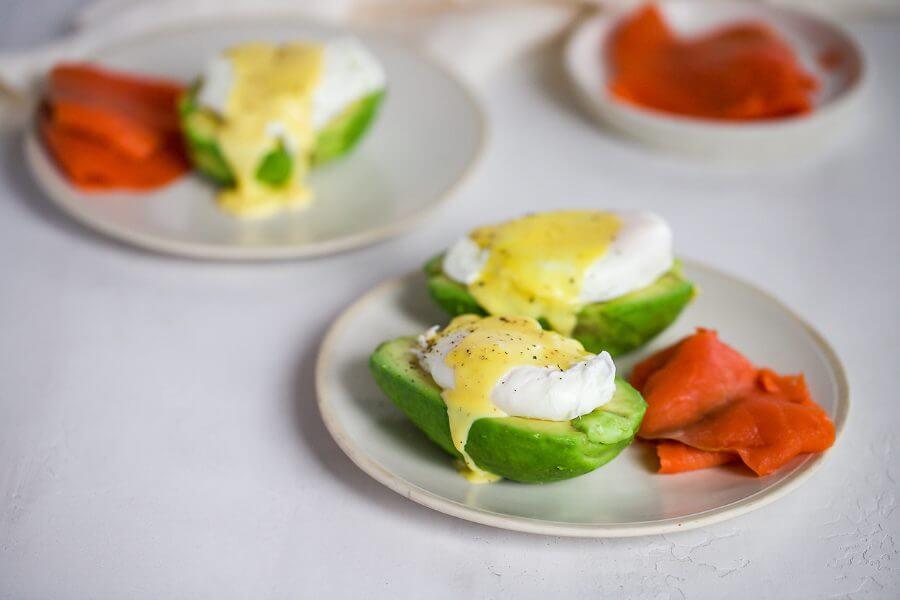 Keto Avocado Salmon Eggs Benedict
